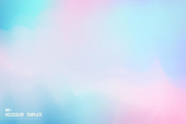 Abstrakcjonistycznego holograma kolorowy szablon dekoraci tło.