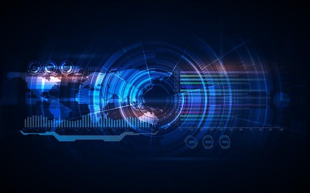 Abstrakcjonistycznego hu ui gui przyszłościowego futurystycznego ekranu systemu wirtualny tło