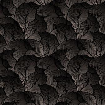 Abstrakcjonistycznego rocznika bezszwowy adamaszka wzór