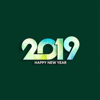 Abstrakcjonistycznego szczęśliwego nowego roku 2019 elegancki tło