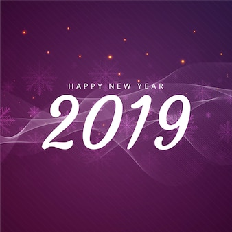 Abstrakcjonistycznego szczęśliwego nowego roku powitania 2019 falisty tło