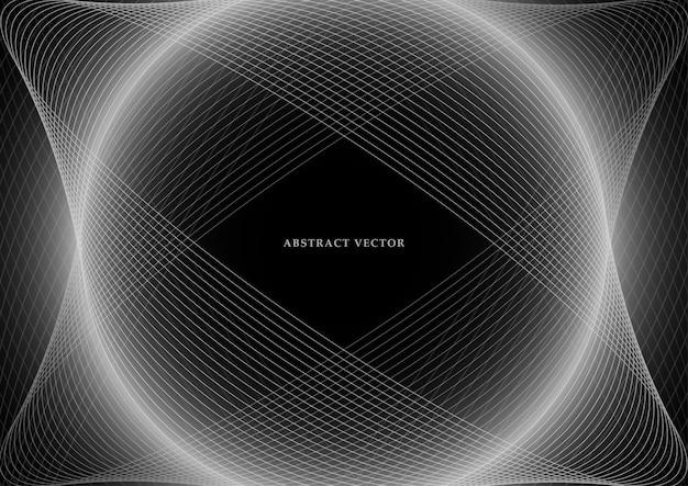 Abstrakcjonistycznego tła jaskrawe linie, rozjarzona siatka