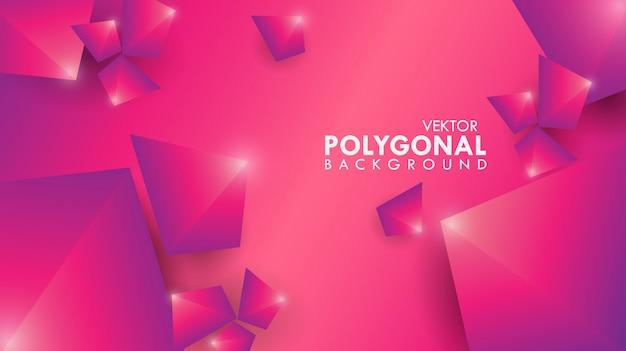 Abstrakcjonistycznego tła poligonalne purpury z światłem