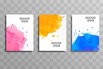 Abstrakcjonistycznej biznesowej broszurki tła kolorowy szablon