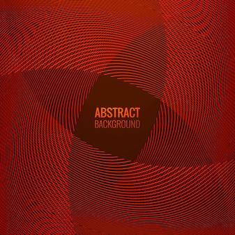 Abstrakcjonistycznej czerwonej linii geometryczny falowy tło