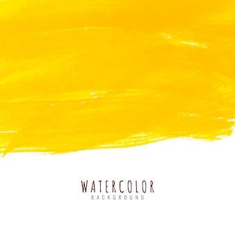Abstrakcjonistycznej jaskrawej żółtej akwareli elegancki tło