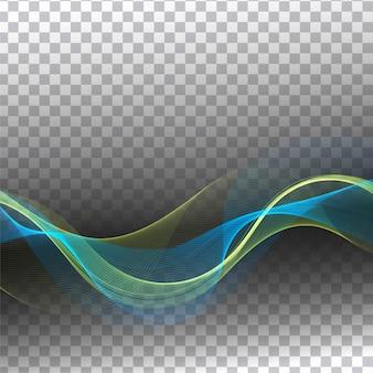 Abstrakcjonistycznej nowożytnej kolorowej fala przejrzysty tło