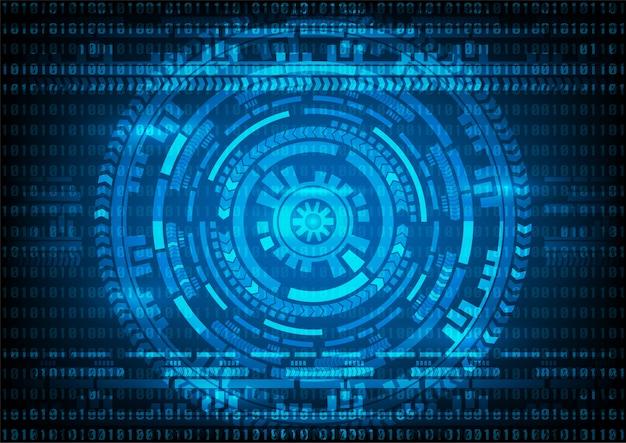 Abstrakcjonistycznej technologii binarnego kodu i przekładni błękita tło.