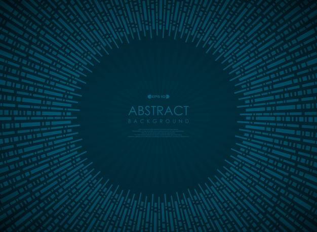 Abstrakcjonistycznej technologii okręgu błękitny gradientowy geometryczny wzór.