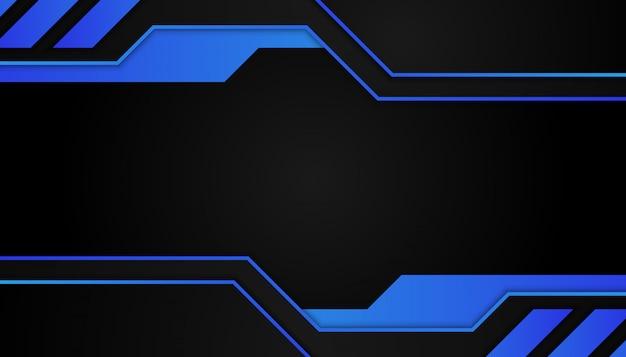 Abstrakcjonistyczni błękitni geometryczni kształty na ciemnym tle