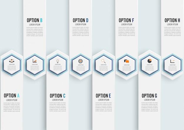 Abstrakcjonistyczni elementy wykresu infographic szablon