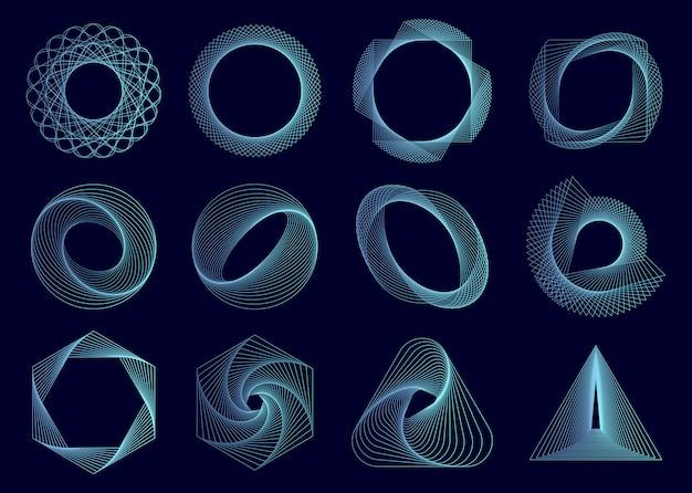 Abstrakcjonistyczni geometryczni elementy ustawiający wektor
