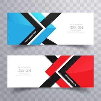 Abstrakcjonistyczni kolorowi sztandary ustawiający kreatywnie projekt