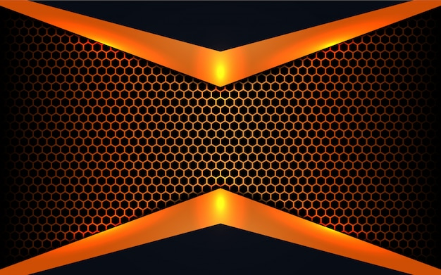 Abstrakcjonistyczni metali kształty na sześciokąta tle
