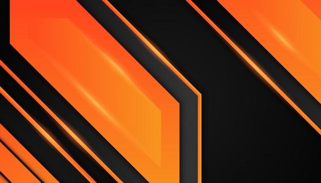 Abstrakcjonistyczni pomarańczowi geometryczni kształty na ciemnym tle