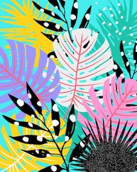 Abstrakcjonistyczni tropikalni liście