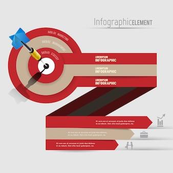 Abstrakcjonistyczny 3d nowożytny infographics