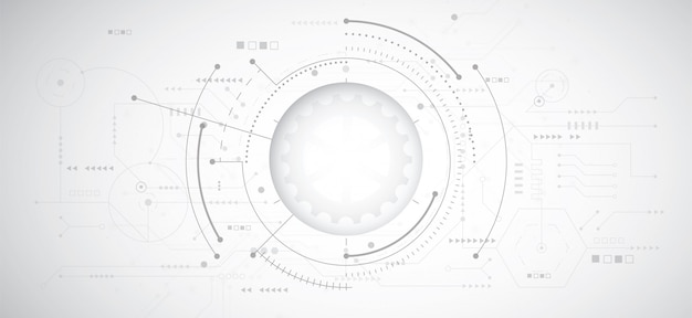 Abstrakcjonistyczny 3d projekta tło z technologią