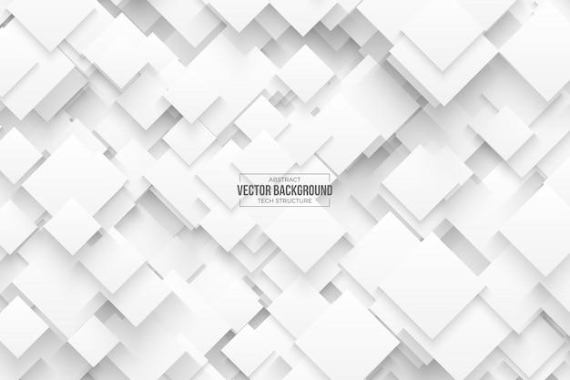 Abstrakcjonistyczny 3d wektoru technologii bielu tło