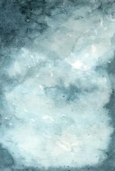 Abstrakcjonistyczny akwareli chmurnego niebieskiego nieba tło