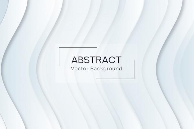 Abstrakcjonistyczny biały falowego kształta tło