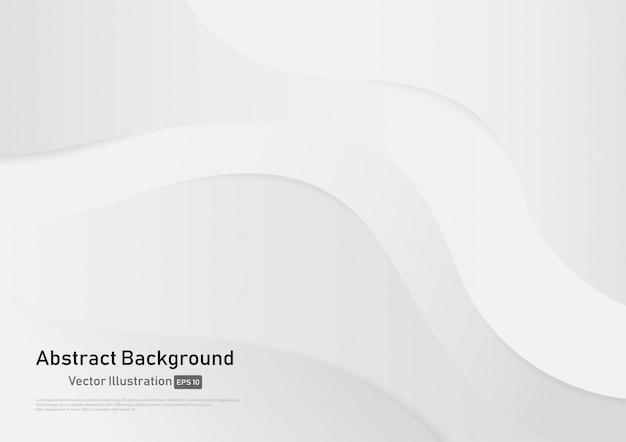 Abstrakcjonistyczny biały i szary gradientowy kolor krzywy tło.