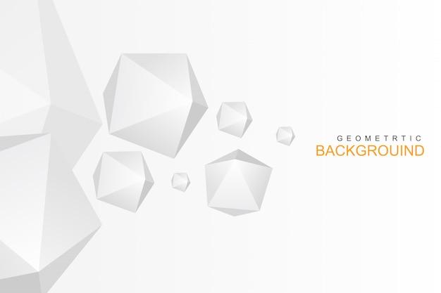 Abstrakcjonistyczny biały minimalny niski wieloboka tło