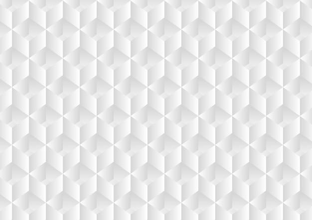 Abstrakcjonistyczny biały tło z sześcianem i łuny światłem