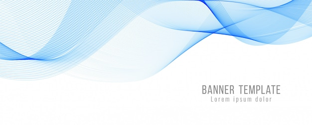 Abstrakcjonistyczny błękit fala sztandaru nowożytny szablon