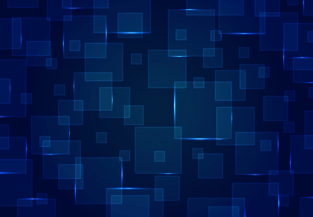 Abstrakcjonistyczny błękita kwadrata wzoru projekt futurystyczny projekt grafiki tło.