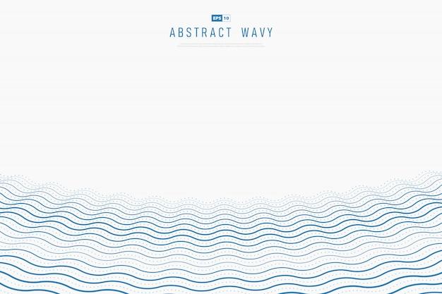 Abstrakcjonistyczny błękitny falisty prosty dekoraci tło
