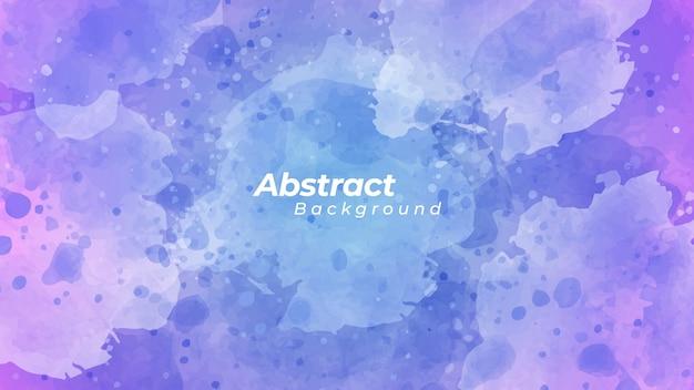 Abstrakcjonistyczny błękitny i purpurowy akwareli tło.