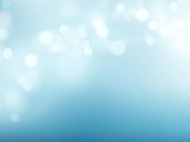 Abstrakcjonistyczny błękitny kółkowy bokeh tło. ilustracji wektorowych