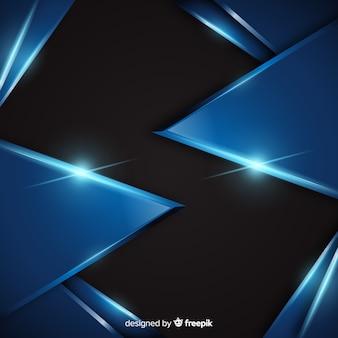 Abstrakcjonistyczny błękitny kruszcowy tło z odbiciem