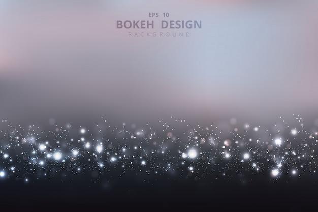 Abstrakcjonistyczny bokeh projekt czysta biel połyskuje deseniową grafikę na lata tle.