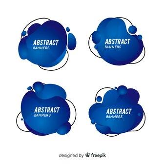 Abstrakcjonistyczny ciekły sztandar