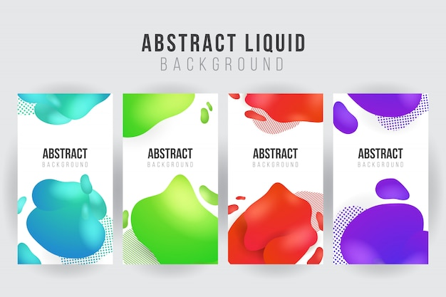 Abstrakcjonistyczny ciekły sztandaru tła szablon
