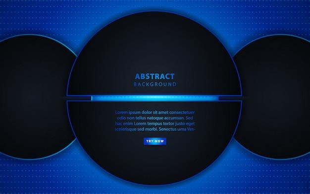 Abstrakcjonistyczny ciemny okrąg z lekkim tłem