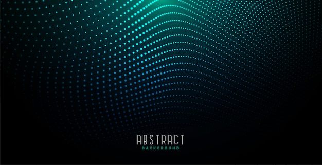 Abstrakcjonistyczny cyfrowy cząsteczki tło z rozjarzonym światłem