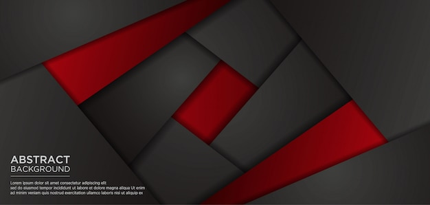Abstrakcjonistyczny czarny czerwony szablonu tło