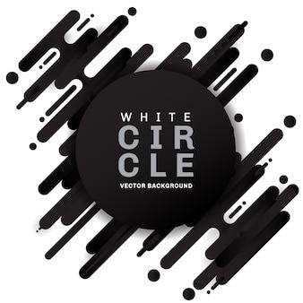 Abstrakcjonistyczny czarny geometryczny zaokrąglony kształta tło