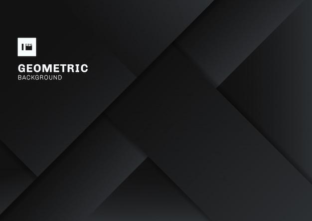 Abstrakcjonistyczny czarny i szary geometryczny kształta tło