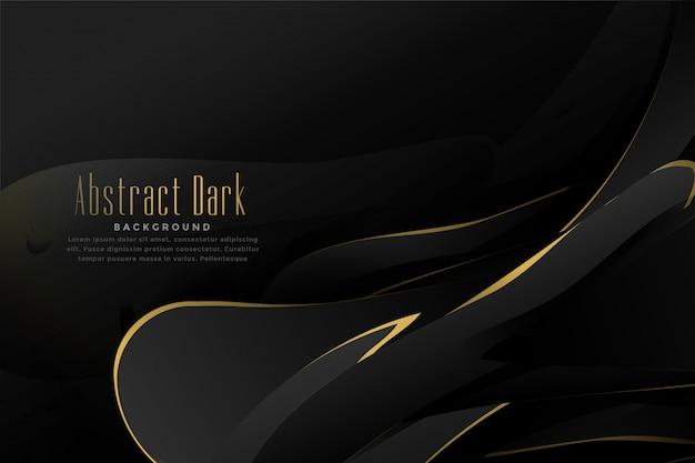 Abstrakcjonistyczny czarny i złocisty tło