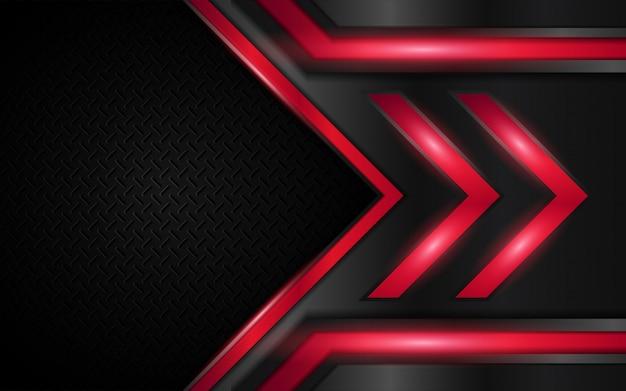Abstrakcjonistyczny czerwieni i czerni kruszcowy kształta tło