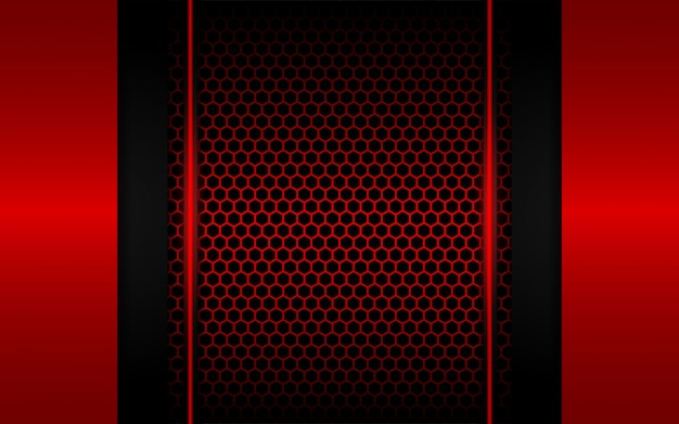 Abstrakcjonistyczny czerwone światło z sześciokąta tłem