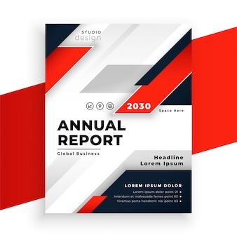 Abstrakcjonistyczny czerwony korporacyjny ulotki raportu rocznego szablon