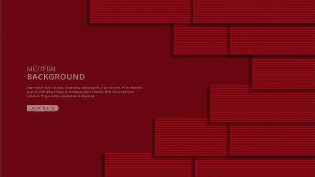 Abstrakcjonistyczny czerwony nowożytny geometryczny kształta tło