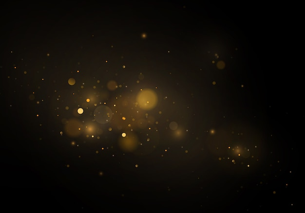Abstrakcjonistyczny defocused kółkowy złoty luksusowy złocisty błyskotliwości bokeh zaświeca tło