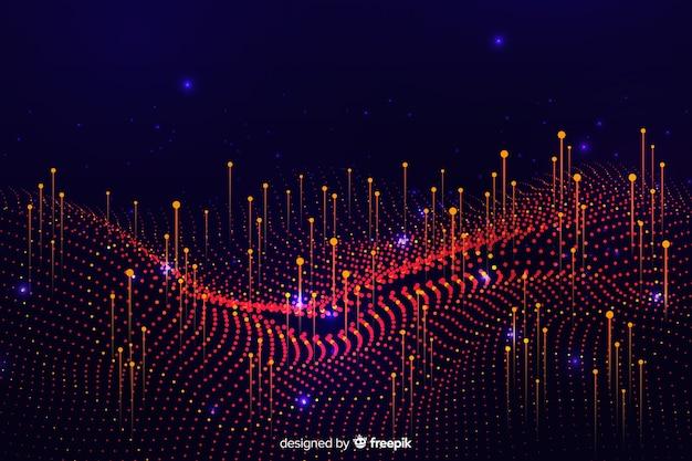 Abstrakcjonistyczny duży dane pojęcie kształtuje tło