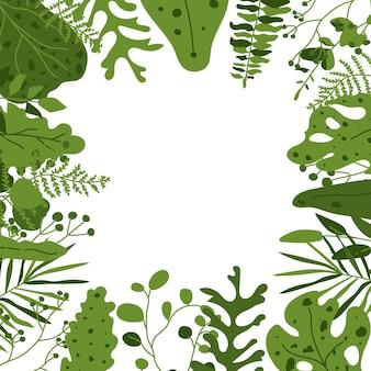 Abstrakcjonistyczny egzotycznej tropikalnej dżungli kwiecisty ramowy tło